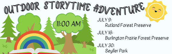 Outdoor Storytime Adventure July